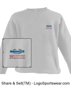 WarZoneWear.com Sweatshirt with Army Combat Infantry Badge Design Zoom