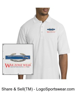 War Zone Wear's Polo Shirt with Combat Infantrymen's Badge Design Zoom