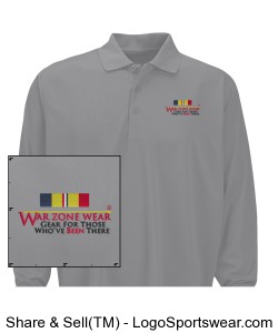 War Zone Wear's Long Sleeve Shirt with Navy/Marine Combat Action Ribbon Design Zoom