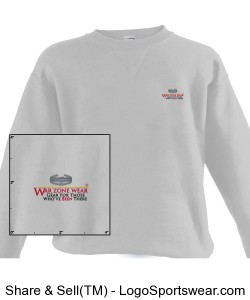 WarZoneWear.com Sweatshirt with Combat Action Badge Design Zoom
