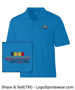 WarZoneWear.com Polo with Navy/Marine Combat Action Ribbon Design Zoom
