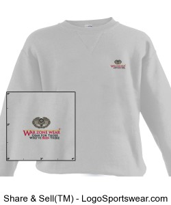 WarZoneWear.com Sweatshirt with Army Combat Medic Badge Design Zoom