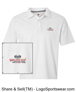 War Zone Wear Polo with Combat Action Badge Design Zoom