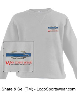 War Zone Wear's Long Sleeve Shirt with Combat Infantrymen's Badge Design Zoom