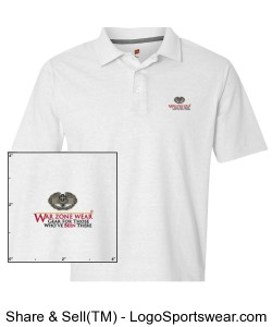 War Zone Wear Polo with Combat Medic Badge Design Zoom